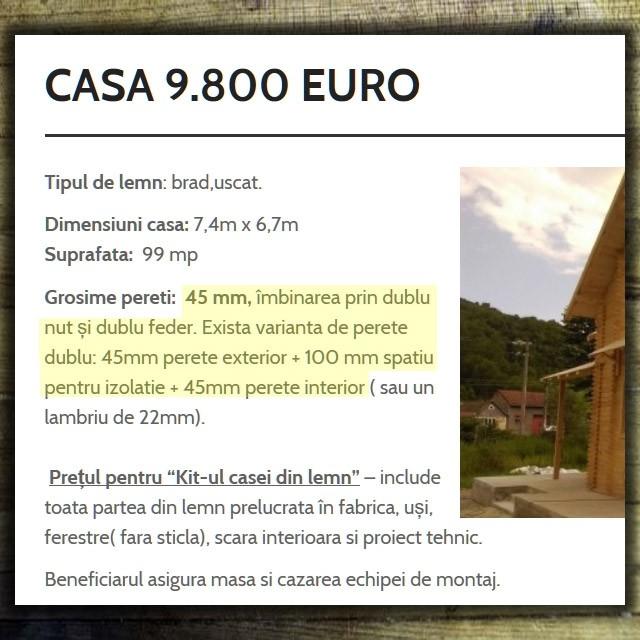oferte de case din lemn ieftine, cu soluții foarte proaste